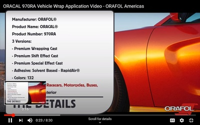 ORACAL 970RA Vehicle Wrap Application Video
