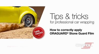How to correctly apply ORAGUARD® Stone Guard Film
